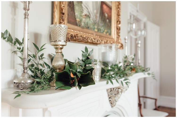 loch aerie mansion mantle with matlack flowers